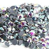 Mejor calidad superior DMC Crystal AB/Crystal Clear Super Bright Glass Strass Hierro en diamantes de imitación para prendas de tela/Nail Art-Glue AB, ss6 1440pcs