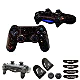 Vinly Skin Decal for PS4/Slim/Pro Controller (1pc Controller Sticker+1Pair L2 R2 Trigger Extenders+2pcs Joystick Caps+2 Pairs LED Light Bar Decal) Video Game Accessories