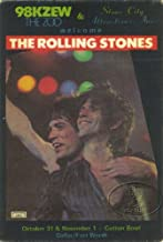 Rolling Stones 1981 Radio Promo Pass KZEW Dallas Cotton Bowl