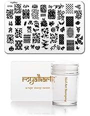 Royalkart Nail Art Stamping Kit Jumbo Image Plate With Soft Nail Silicone Stamper(CF06)