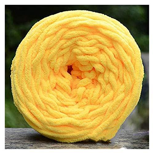 DUBILE Thick Yarn, Arm Knitting 100 g/Bola Hilado súper Grueso Hilos de poliéster Suave de Hilo Grande Hilado voluminoso Brazo voluminoso Manta de Tejer Hilo de Hilado Poliéster (Color : Yellow)