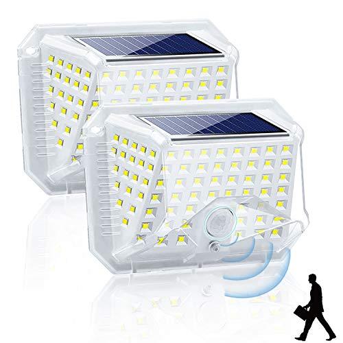 Uni-Fine 2 STK Solarlampen für Außen mit Bewegungsmelder 90 LED 3 Modi Solarleuchten für Außen【2020 Version 270°】Solar Aussenleuchte IP 65 Solarlicht für Außen Wasserdicht Wandleuchte für Garten, Hof
