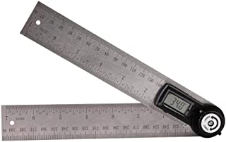 WJUKC Angle Meter Accurate Stainless Steel Protractor Professional Circle Clear Scale Measure Tool Ruler Multifunction Lightweight