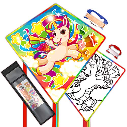 Mint's Colorful Life Einhorn Drachen für Kinder einleiner Flugdrachen