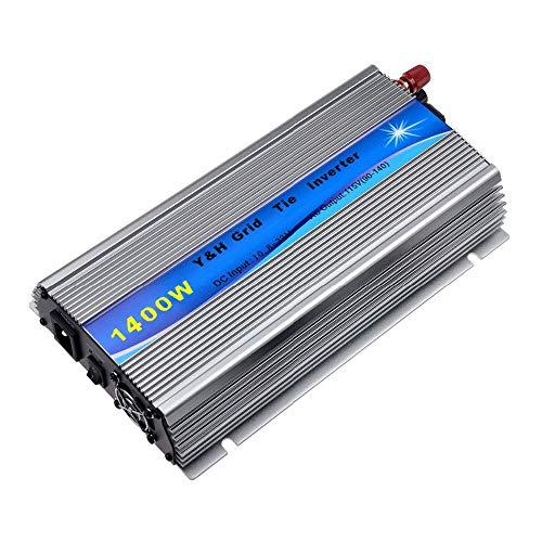 Y&H 1400W Grid Tie Inverter Stackable MPPT Pure Sine Wave DC10.8-32V Solar Input AC90-140V Output for 12V Solar Panel