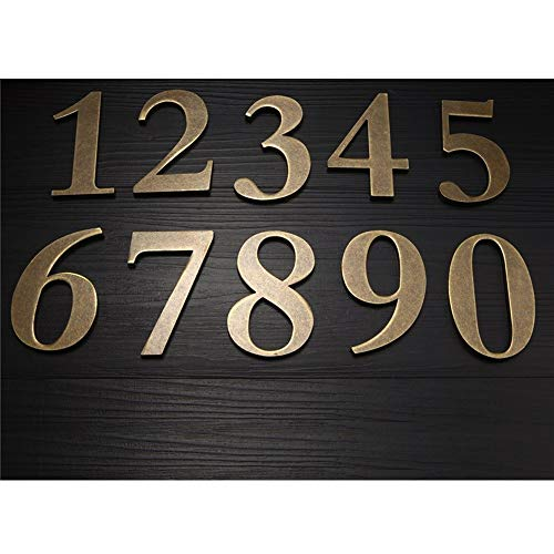 Engfgh Metal Digital Stereoscopic House Number, Room Number, Digital Signage, House Signboard, Suitable for Villa, Hotel, Household House Number (Color : 8)