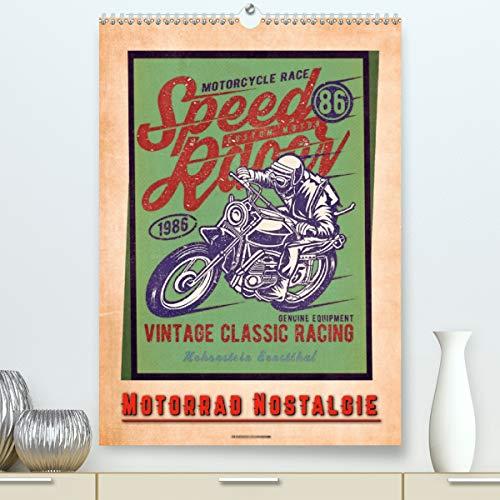 Motorrad Nostalgie (Premium, hochwertiger DIN A2 Wandkalender 2021, Kunstdruck in Hochglanz)