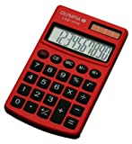 Olympia Taschenrechner LCD - 1110, rot