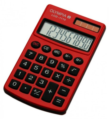 Olympia Taschenrechner LCD - 1110, rot
