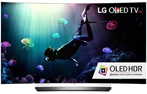LG Electronics OLED55C6P Curved 55-Inch 4K Ultra HD Smart OLED TV (2016 Model)