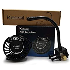 "The Kessil Tuna Blue A80 LED Light is the newest Kessil offering is half the intensity of the A160, but comes with all the same features and color and control knobs Compatible with the Kessil Spectral Controller Coverage is 14"" to 24"" depending on th..."