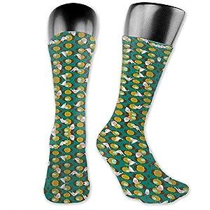 Dydan Tne Gourmet Garden Green Wallpaper (7352) Calcetines de Vestir - Colorful Funky Socks