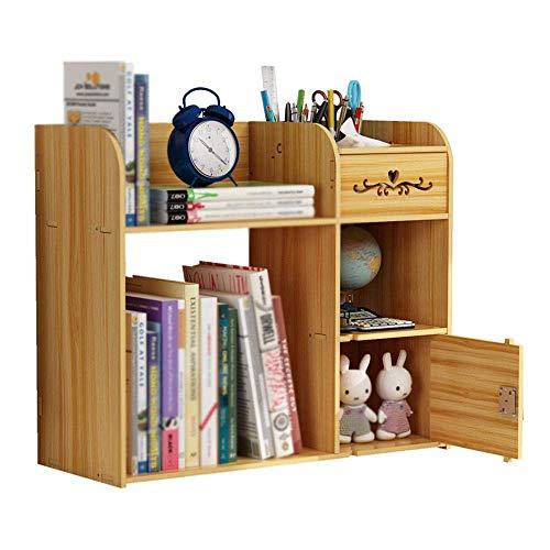 XXSHN Estantería de Escritorio Estantería de Escritorio Caja de Almacenamiento de Archivos de Escritorio para la Oficina en casa para el hogar CD DVD Soporte de Soporte