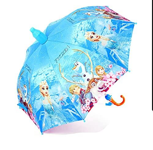 HCHL Paraguas Plegable De Viaje, Tapa Impermeable Paraguas de Mango Largo, Muchacho Muchacha de Dibujos Animados bebé Kindergarten Alumnos sombrilla Paraguas, Paraguas Clear Rain De Doble Uso