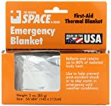 Grabber Outdoors The Original Space Brand Emergency Survival Blanket, Silver, 3oz. 56' X 84'