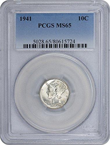 1941-P Mercury Dime, MS65, PCGS