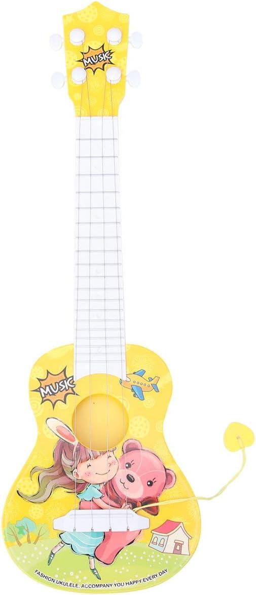 NUOBESTY Niños Juguetes de Guitarra Instrumento Musical de Juguete Juguetes de Ukelele Instrumento Musical Educativo para Niñas Niños Niños Niños