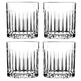 Juego de 4 vasos de whisky de 8 onzas, vasos de rocas antiguos, vasos de cristal para cóctel escocés, bourbon, ginebra, voldka, brandy