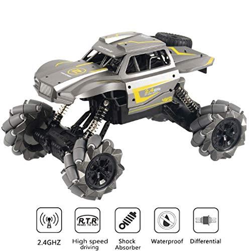 S2F5 4WD remota montaña de Control de bicicletas 2.4G de alta velocidad metal Stunt Car con la luz 360 ° de rotación de doble motor todo terreno Gesto de control remoto de coches de juguete fuera de l