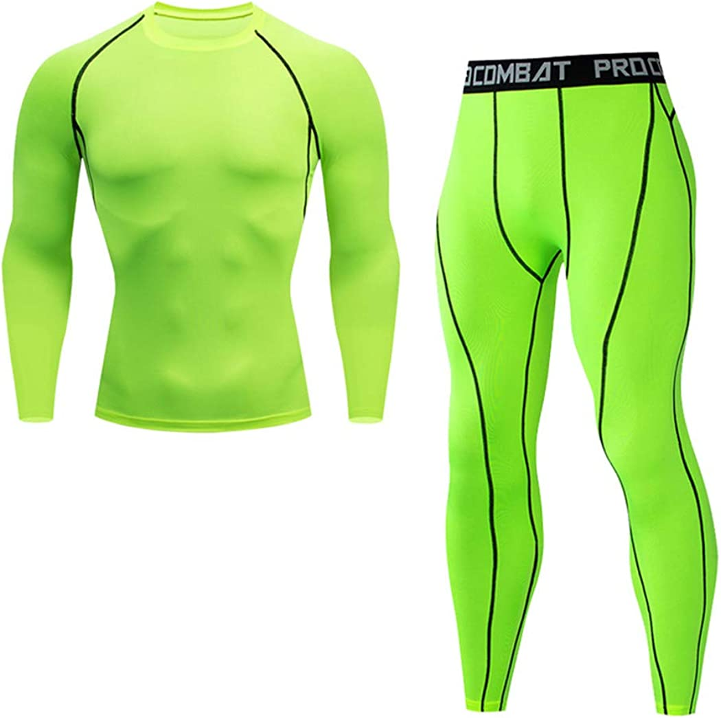 DADSFVG Thermal Underwear Set,Men's Compression Sports Underwear,Quick-Drying Jogging Suit,Winter Warm Base Layer