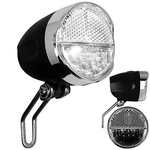 TW24 Fahrrad Frontleuchte mit Batterien Frontlicht mit StVZO-Zulassung Fahrradlicht vorne Fahrradbeleuchtung Vorderlicht