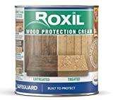 Roxil Wood Protection Cream - Instant Waterproofing Clear Treatment, Weatherproofs: Fences, Decking, Furniture, Sheds (1 Litre)