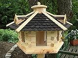 Vogelhaus Vogelhäuser Vogelfutterhaus--Vogelhäuschen-aus Holz- Schreinerarbeit-Gaube Schwarz sehr Groß