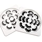 Kellyroom 20mm Faux Mink Fake Lashes Pack of 2 Styles 14 Pairs Dramatic Thick Volumn False Eyelashes Strip 3D/4D/5D