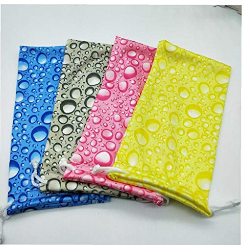 Glasses Pouch Eyewear Protector Storage Pouch Bag Water Drops Portable Waterproof Sunglasses Case with Drawstring