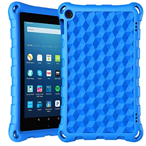 7 inch Tablet Case for Kids - DiHines 2019 Kids-Proof Protective Light Weight Kid Friendly Case Cover for 7 inch Tablet (Compatible with 2017&2019 Release)-Blue