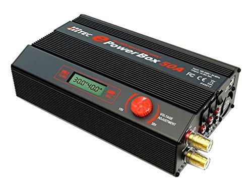 Hitec ePowerBox 50A Netzteil & Wechselrichter innen 1200 W schwarz, grau – Adapter für Leistung & USV (Remote Control Toy, Innen, 100 – 240 V, 1200 W, 30 V, schwarz, grau)