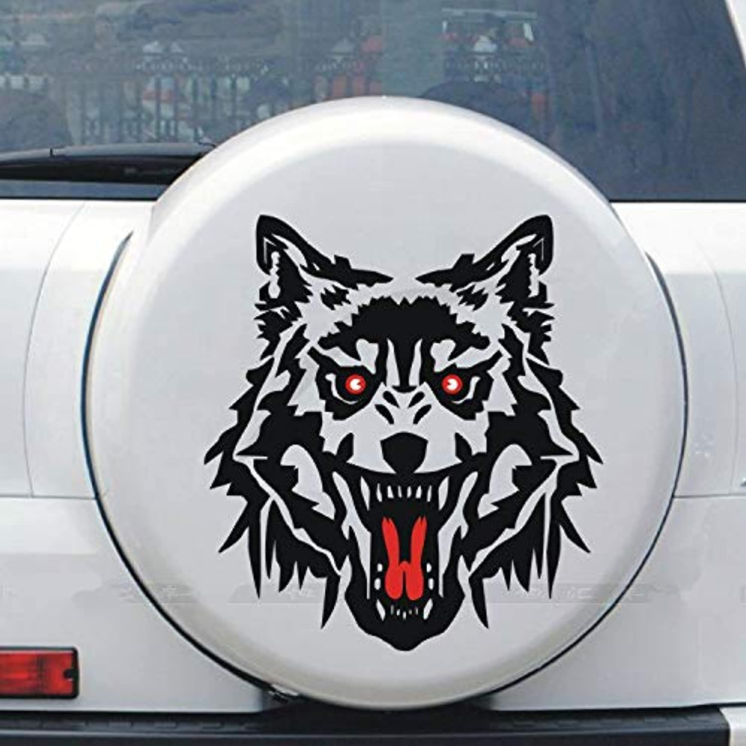 TJPCT Car Light Eye Sticker Car Decoration Stickers Personality car Wolf Head car Modification Scratch car Stickers Side Door Stickers Fuel Tank Stickers