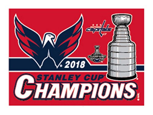 WinCraft Washington Capitals 2018 Stanley Cup Champions Fridge Magnet