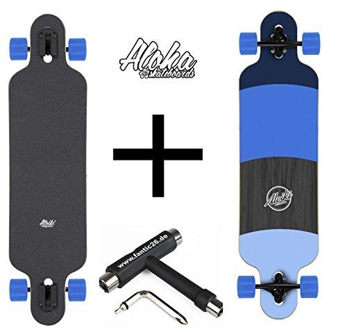 Aloiki Longboard + Fantic26 Skatetool (Blue + Fantic26 Skatetool)