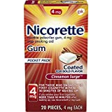Nicorette Nicotine Polacrilex Gum 4 mg Cinnamon Surge - 20 ct, Pack of 2