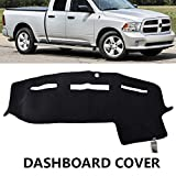 XUKEY Dashboard Cover for Dodge Ram 1500 2500 3500 2011-2018 Dash Cover Mat