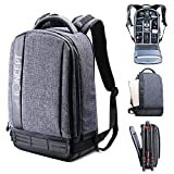 K&F Concept Lightweight DSLR Camera Backpack, Waterproof Multipurpose Thickening Nylon Camera Bag