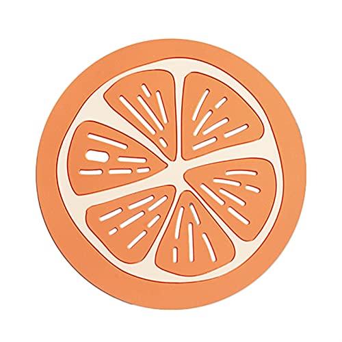 Cuchara de Silicona de Grado alimenticio Pad Resistente al Calor Placemat Tray Pad Bebida Costera de Vidrio Herramienta de Cocina Anti-Scalding Nolips Pads (Color : 03 S, Shape Style : Round)