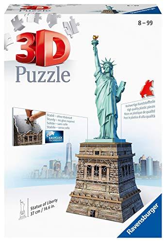 Ravensburger Italy- D Puzzle 3D Statua della libertà, 108 Pezzi, Multicolore, 125845