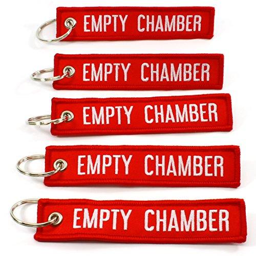 EMPTY CHAMBER – Key Chains – 5pcs (Red)
