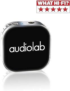 Audiolab ワイヤレスヘッドホンアンプ Bluetooth ポータブルアンプ DAC搭載 ハイレゾ音源対応 最大32bit/384K出力 音質向上 無線充電 5時間連続再生
