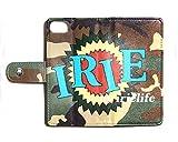 アイリーライフ IRIE LIFE by irielife FIRE BALLのJUN 4 SHOTがディレクション IRIE TRIBE柄 BOOK型 手帳型 アイホン アンドロイド スマホケース メンズ IRAW18-007 CAMO ミリタリー M