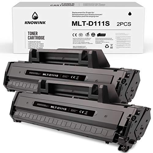 KNOWINK MLT-D111S Cartucce d'inchiostro nero compatibili per Samsung MLTD111S, D111, 111S per Samsung Xpress M2020 M2020W M2022 M2022W M2026 M2026W SL-M2070 SL-M2070W M2070F M2070FW (2 pezzi)