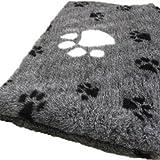 Vetbed Hundedecke XXL grau schwarz weiss 2x150/100cm