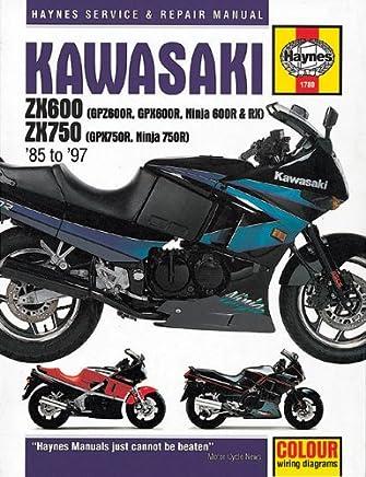 Kawasaki Zx600 and Zx750 1985-1997: Service and Repair Manual