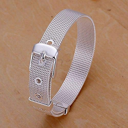SHOUAQI Armband 925 versilbert Armband modeschmuck Kleine Webuhr Gürtel Armband