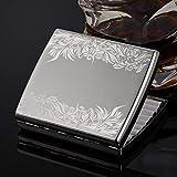 ALHJ Portasigarette in Acciaio Inossidabile Metallo,Elegante Disegno A Viticcio,Moda Porta Sigarette Scatola