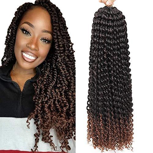 8pcs de tresses au crochet 18 pouces pour les extensions de cheveux Passion Twist Crochet Water Wave Passion Twist Braiding Hair (8pcs, T33)