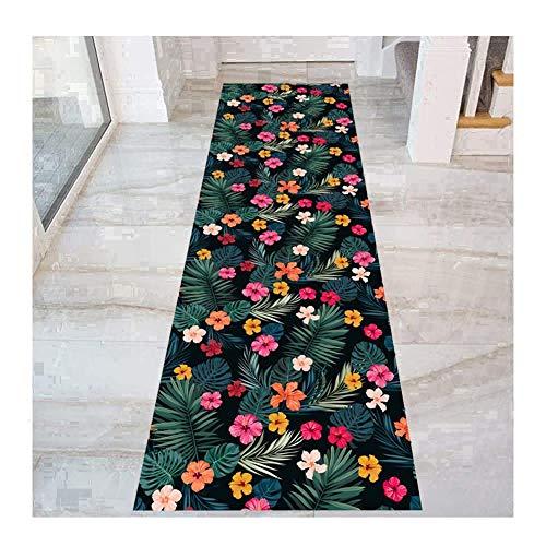 QianDa Tappeto Passatoia Tappeti Corridoio, Fiore Design Tappeto for Cucina Passaggio Corridoio Entrata Porta Stuoia, 6mm Spessore (Size : 60x300cm)