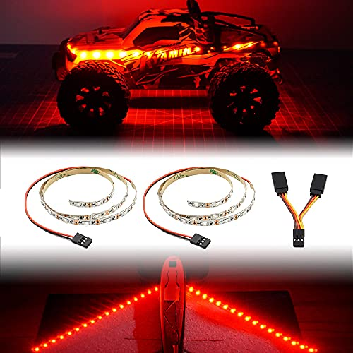 LED Light Strip for RC Fixed Wing Airplane Flying Wing Plane AR Wing Drone Model Car Truck (Red)